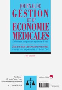 JOURNAL DE GESTION ET D'ECONOMIE MEDICALES