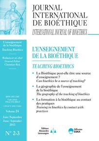 Journal International de Bioéthique 2013/2