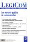couverture de Les marchés publics de communication