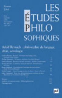 Les Études philosophiques 2005/1