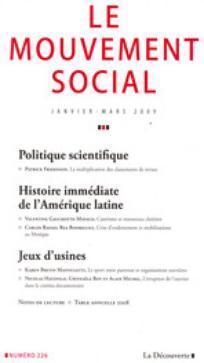 Le Mouvement Social 2009/1