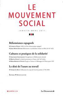 Le Mouvement Social 2011/1