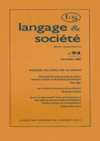 Langage et société 2000/4
