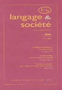 Langage et société 2002/2