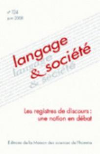 Langage et société 2008/2