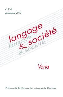 Langage et société 2010/4