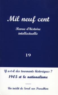 Mil neuf cent. Revue d'histoire intellectuelle 2001/1