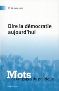 Mots. Les langages du politique 2007/1
