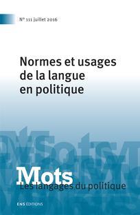 Mots. Les langages du politique