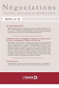 Vignette document Conflits du travail, syndicalisme et négociation collective dans la France contemporaine. Débats et controverse. Dossier se mettre d'accord (II)