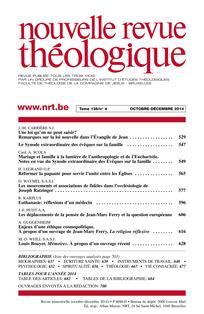 Nouvelle revue théologique 2008/2