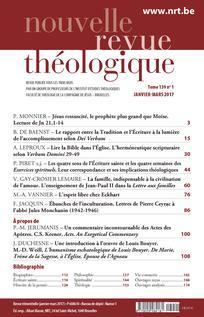 Nouvelle revue théologique 2017/1