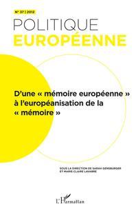 Politique européenne 2012/2