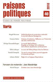 Raisons politiques 2010/4