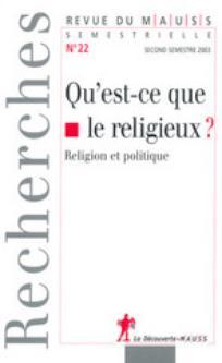 Revue du MAUSS 2003/2