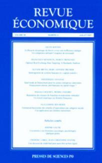 Revue économique 2007/4
