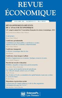 Revue économique 2012/3