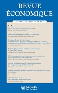 Revue économique 2014/3