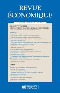 Revue économique 2015/3
