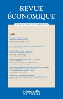 Revue économique 2017/6