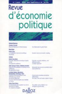 Revue d'économie politique 2001/1
