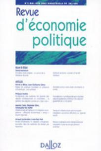 Revue d'économie politique 2009/4