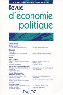 Revue d'économie politique 2010/3