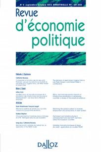 REVUE D'ECONOMIE POLITIQUE
