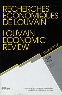 Recherches économiques de Louvain 2006/4