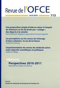 Revue de l'OFCE 2010/2