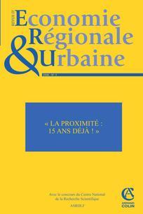 Revue d'Économie Régionale & Urbaine 2008/3