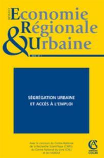 Revue d'Économie Régionale & Urbaine 2010/1