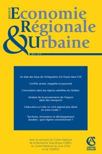 Revue d'Économie Régionale & Urbaine 2011/5