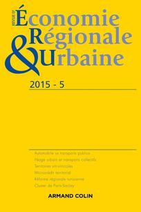 Revue d'Économie Régionale & Urbaine 2015/5