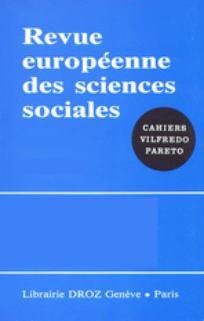 Revue européenne des sciences sociales 2009/2