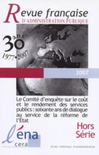Revue française d'administration publique 2007/5