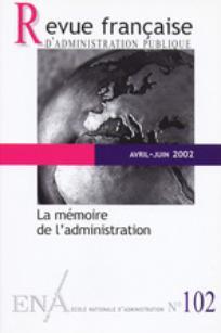 Revue française d'administration publique 2002/2