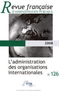 Revue française d'administration publique 2008/2