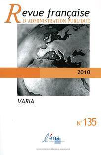 Revue française d'administration publique 2010/3