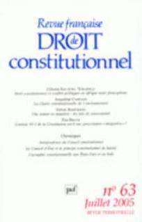 Revue française de droit constitutionnel 2005/3