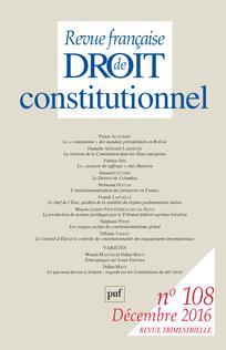 Revue française de droit constitutionnel