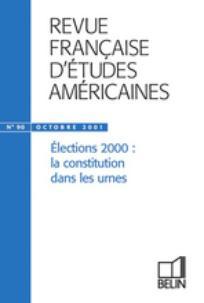 Revue française d'études américaines 2001/4