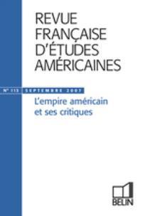 Revue française d'études américaines 2007/3