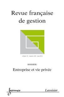 Revue française de gestion 2012/5