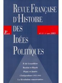 Revue Française d'Histoire des Idées Politiques 2003/1
