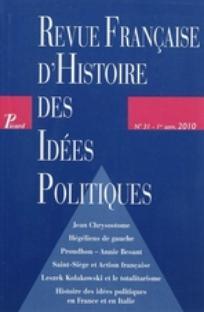 Revue Française d'Histoire des Idées Politiques 2011/1