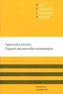 Revue française de linguistique appliquée 2010/2