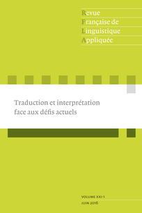 Revue française de linguistique appliquée