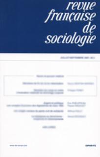 Revue française de sociologie 2003/1