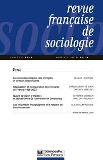 Revue française de sociologie 2014/2